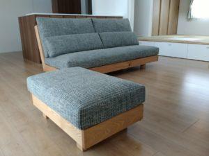 オークの床にオークの家具を・・・。